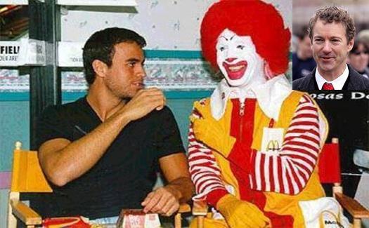 Grainy picture of Rand Paul meeting Enrique Iglesias