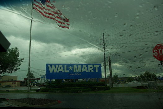 Stormy weather creeps into any community with a Walmart store