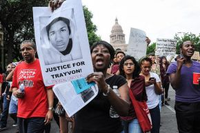 Obama & Hooded Teenager Appear to Zimmerman Protesters, Urge Calm